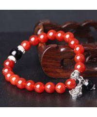 Браслет из натурального камня Сердолик с Буддой