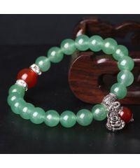 Браслет из натурального камня Нефрит с Буддой