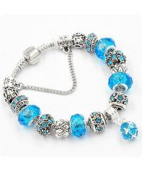 Браслет Pandora Shine голубой