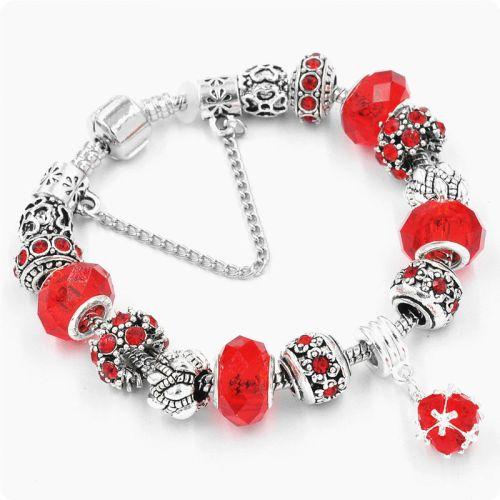 Браслет Pandora Shine красный