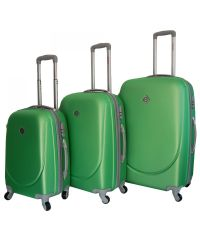 Набор чемоданов Bonro Smile салатовый (110024)