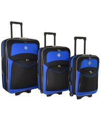Набор чемоданов Bonro Style 3 штуки черно-синий (102462)