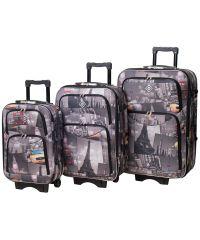 Набор чемоданов Bonro Style 3 штуки City (110201)