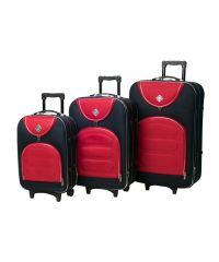 Набор чемоданов Bonro Lux 3 штуки темно синий-красный (110189)