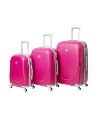 Набор чемоданов Bonro Smile 3 штуки розовый (110230)