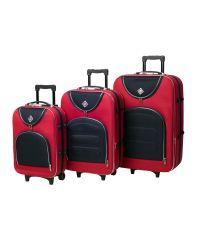 Набор чемоданов Bonro Lux 3 штуки красный-темно синий (110190)