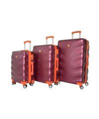 Набор чемоданов Bonro Next 3 штуки бордовый (110296)