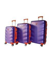 Набор чемоданов Bonro Next 3 штуки фиолетовый (110295)