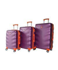 Набор чемоданов Bonro Next 3 штуки темно-фиолетовый (110297)