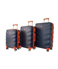 Набор чемоданов Bonro Next 3 штуки темно-синий (110294)