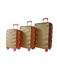 Набор чемоданов Bonro Next 3 штуки золотой (110293)