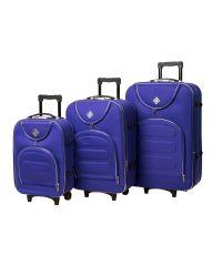 Набор чемоданов Bonro Lux 3 штуки фиолетовый (102403)