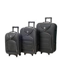 Набор чемоданов Bonro Lux 3 штуки серый (110191)