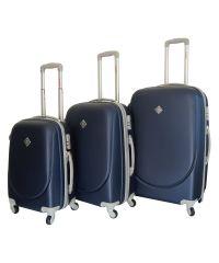 Набор чемоданов Bonro Smile темно-синий (110042)