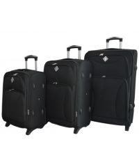 Набор чемоданов Bonro Tourist 3 штуки черный (110245)
