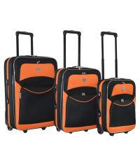 Набор чемоданов Bonro Best черно-оранжевый (110139)