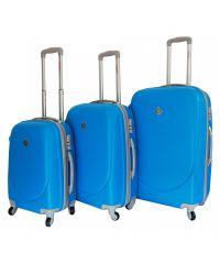 Набор чемоданов Bonro Smile голубой (110043)