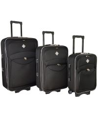 Набор чемоданов Bonro Style 3 штуки черный (102460)