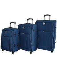 Набор чемоданов Bonro Tourist 3 штуки синий (110246)
