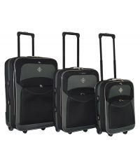 Набор чемоданов Bonro Best черно-серый (110138)