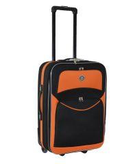 Чемодан Bonro Best большой черно-оранжевый (110181)