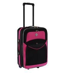 Чемодан Bonro Best средний черно-розовый (110173)