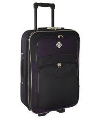 Чемодан Bonro Style средний черно-темно фиолетовый (110125)