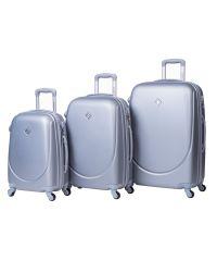 Набор чемоданов Bonro Smile 3 штуки серебряный (110232)