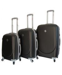 Набор чемоданов Bonro Smile темно-серый (110044)