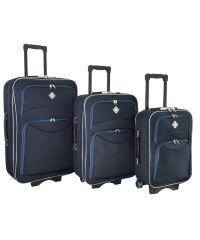 Набор чемоданов Bonro Style 3 штуки синий (102461)