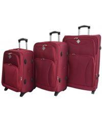 Набор чемоданов Bonro Tourist 3 штуки вишневый (110247)