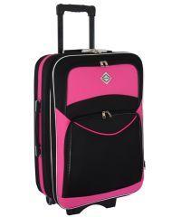 Чемодан Bonro Style средний черно-розовый (110126)