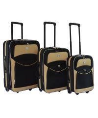 Набор чемоданов Bonro Best черно-кремовый (110142)