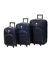 Набор чемоданов Bonro Lux 3 штуки темно-синий (102407)