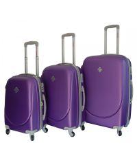 Набор чемоданов Bonro Smile фиолетовый (110045)
