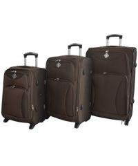 Набор чемоданов Bonro Tourist 3 штуки коричневый (110248)