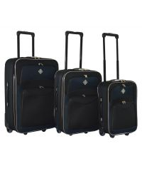 Набор чемоданов Bonro Best черно-темно синий (110140)