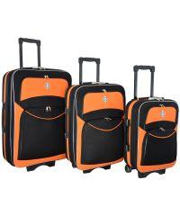 Набор чемоданов Bonro Style 3 штуки черно-оранжевый (102466)