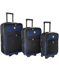 Набор чемоданов Bonro Style 3 штуки черно-темно синий (110109)