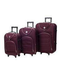 Набор чемоданов Bonro Lux 3 штуки бордовый (102404)