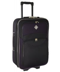 Чемодан Bonro Style большой черно-темно фиолетовый (110131)