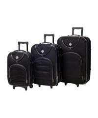 Набор чемоданов Bonro Lux 3 штуки черный (102405)