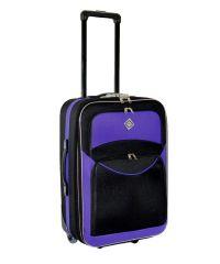 Чемодан Bonro Best небольшой черно-фиолетовый (110151)