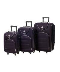Набор чемоданов Bonro Lux 3 штуки темно-фиолетовый (102406)