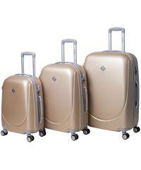 Набор чемоданов Bonro Smile 3 штуки с двойными колесами шампан (110070)