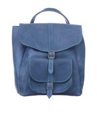 Рюкзак кожаный DEKEY 1.0 Индиго синий