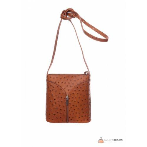 Итальянская кожаная сумка DIVAS KYRA Р2281 коньячная