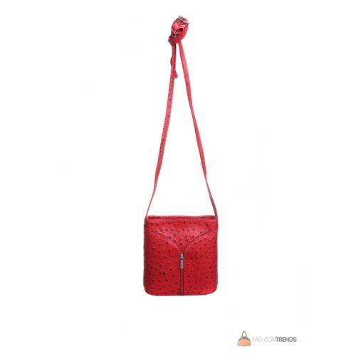 Итальянская кожаная сумка DIVAS KYRA Р2281 красная