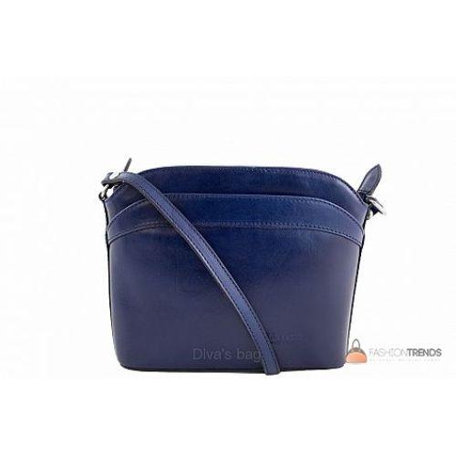 Итальянская кожаная сумка DIVAS BARBARA TR912 синяя