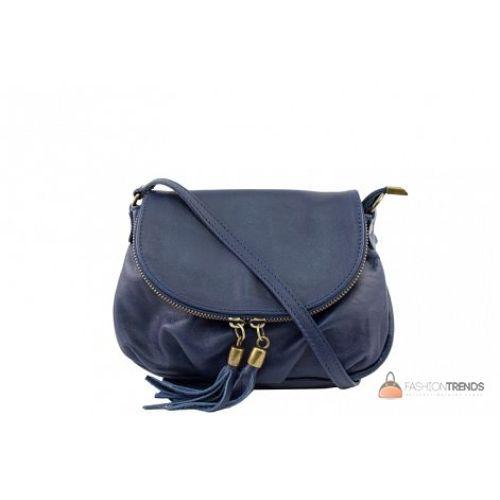 Итальянская кожаная сумка DIVAS Mimma TR961 синяя